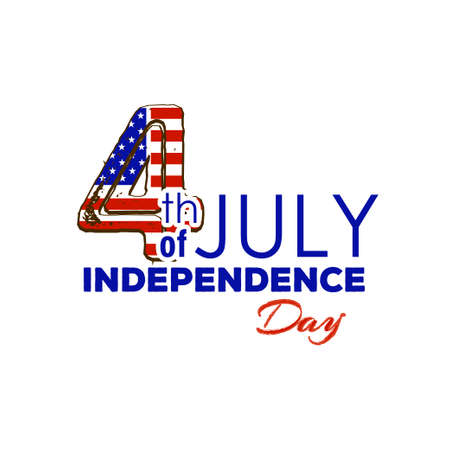 july 4th: Happy Independence Day - Fourth of July - July 4th Vector illustration Illustration