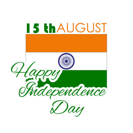 august: Happy Independence day India, illustration, design for 15th August.
