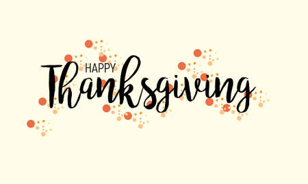 Flat design style Happy Thanksgiving Day logotype, badge and icon. Happy Thanksgiving Day logo template card banner, flyer