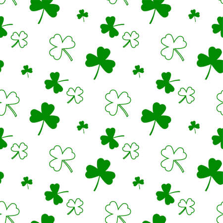 Vector abstract  for St. Patricks Day on Shamrock background, irish Clover composition with label saint patrick day on shamrock leaf pattern backdrop