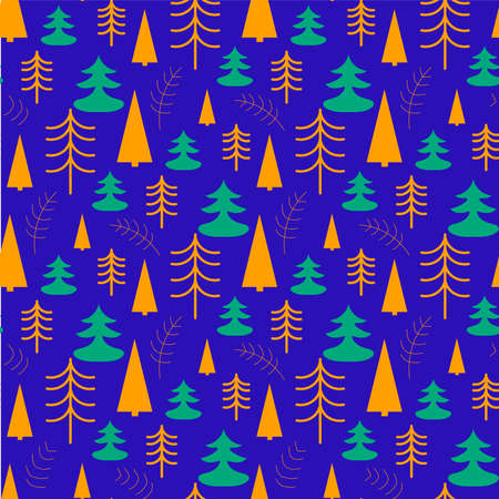 Vector seamless pattern with christmas tree 向量圖像