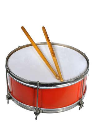 pioneer: soviet pioneer drum isolated Stock Photo