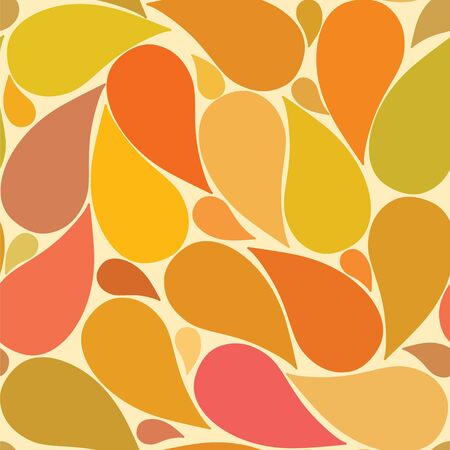 Vector illustration seamless pattern with ornamental leaves. Autumn background