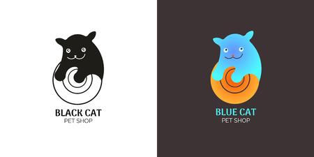 logotype: Logotype kitten Illustration
