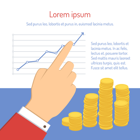 capital gains: businessman pointing to chart
