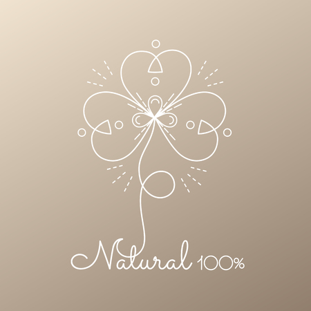 Logo abstract flower Illustration