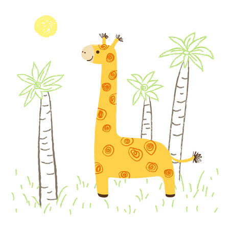 Girafe illustration Stock Vector - 81668670