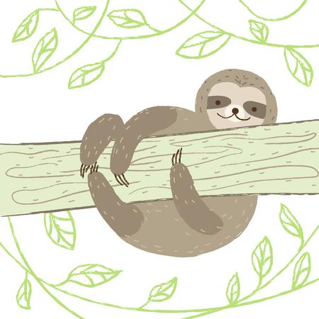 Sloth illustration 일러스트
