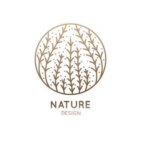 Nice Logo seaweed good for background. Illusztráció