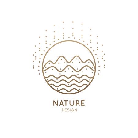 Logo sunny mountain river