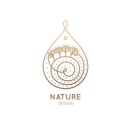 Logo nature vector illustration.