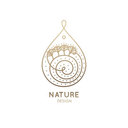 Logo nature vector illustration.
