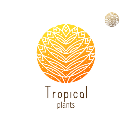 Tropical jungle icon Vector illustration.