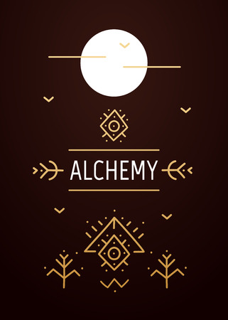 Abstract sacred poster