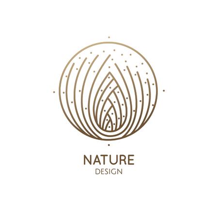 Pine cone logo design