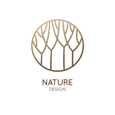 Garden round emblem Stock Illustratie