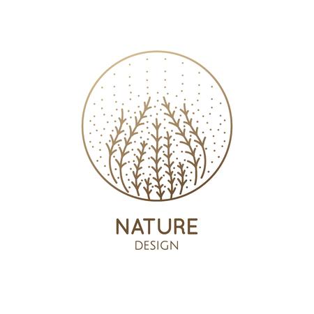 Logo seaweed with dots