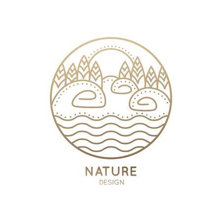 Landscape logo in circle