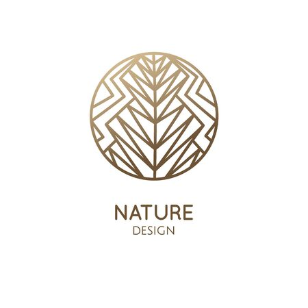 Abstract floral plant logo geometric shapes