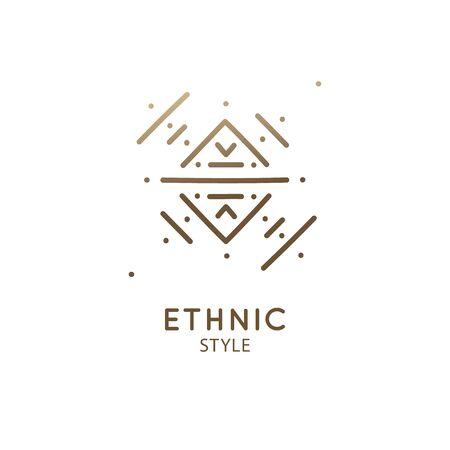 Geometric sacred abstract emblem tattoo