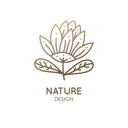 Tropical plant logo