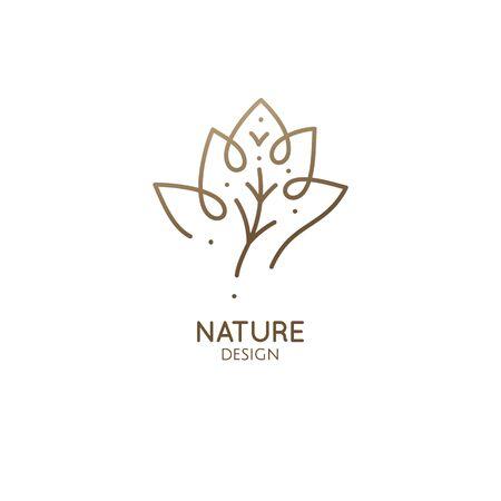 Abstraktes minimales Logo der tropischen Pflanze