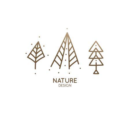 Set nature logo Standard-Bild - 129459898