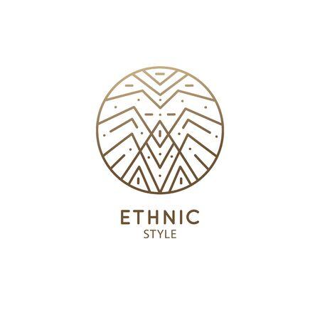 Abstract sacred symbol of mountain logo