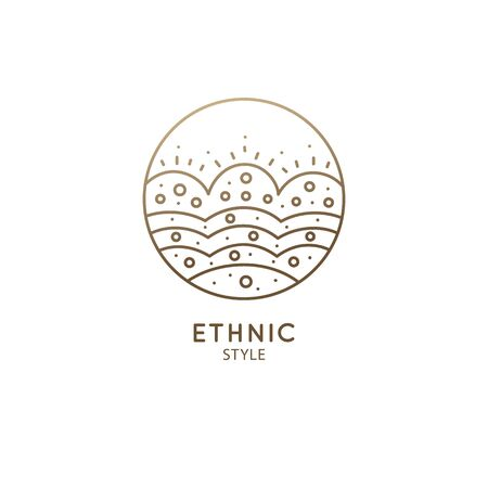 Abstract sacred symbol of nature logo