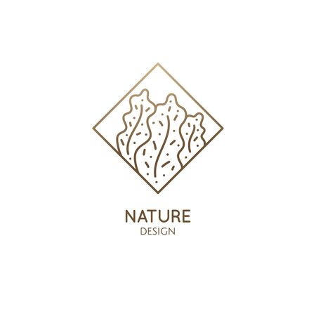 Abstract patterned nature logo