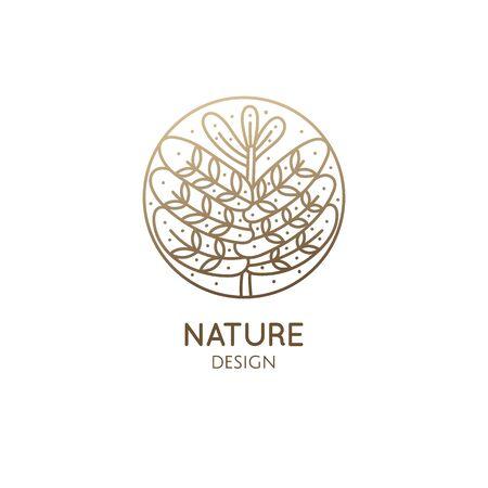 Tropical plant logo