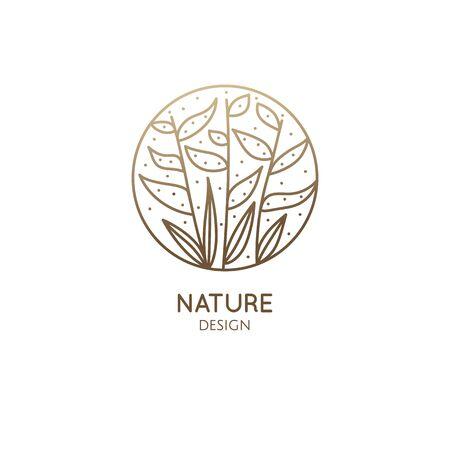 Tropical plant  nature design illustration