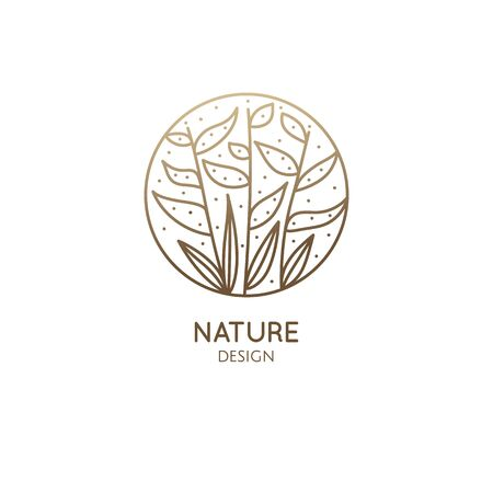 Tropical plant  nature design illustration
