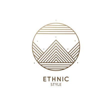 emblem design mountain landscape
