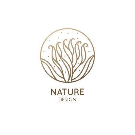 Albuca concordiana linear logo. Corkscrew plant icon. Houseplant floral flower. Vector emblem of home plant Ilustração