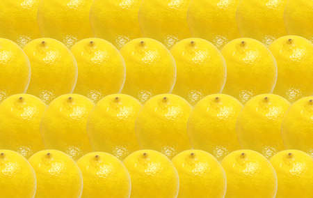 whole lemon fruits abstract seamless pattern background Stock Photo