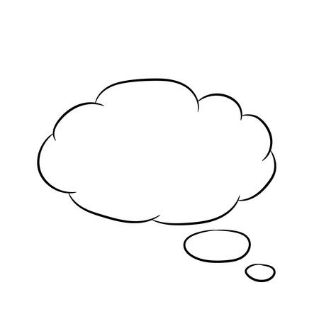 Cloud thought fly white of vector illustrations Illustration