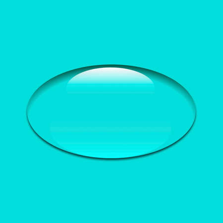 clear drop on a turquoise background on white background of vector illustrations Illustration