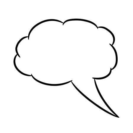 thought balloon: Cloud thought fly white of vector illustrations Illustration