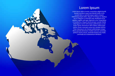 Abstract map Canada