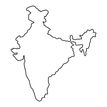 India Map Outline Stock Photos And Images   123RF