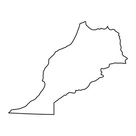 Cartina Muta Marocco.Vettoriale Rabat Marocco Mappa In Stile Retro Mappa Di Contorno Illustrazione Vettoriale Image 91945013