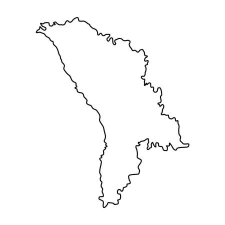 Moldova Outline Map Stock Illustrations Cliparts And Royalty - Moldova map outline