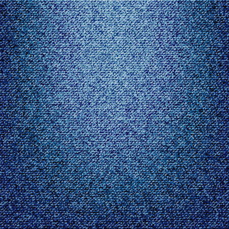 Structure of denim blue fabric. Jeans background of vector illustration.
