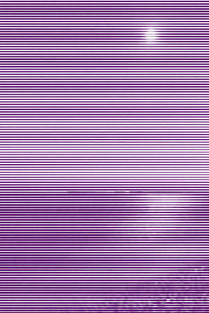 Image collage of surf on a sandy beach at night and lunar path from horizontal lines and paths of variable thickness color violet on white background. Vector illustration.