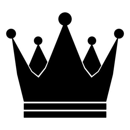 Crown Royal Imperial icon schematic from black silhouette icon on white background. Vector illustration.