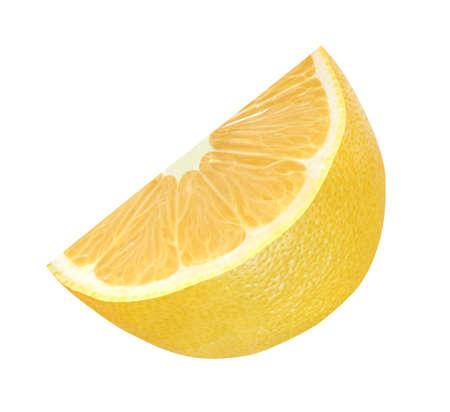 Cut lemon yellow half inside isolated on white background. 写真素材