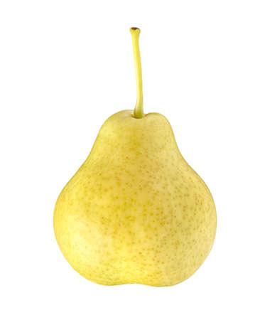 Pear whole single isolated on white background.