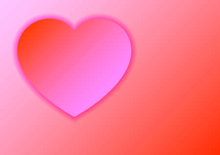 Heart love symbol for Valentines day from paper cut pastel color of red and pink gradients with shadows for banner, poster, greeting card. Vector illustration.
