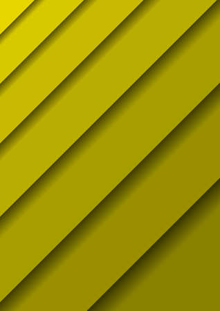 Paper cut banners with 3D abstract background with yellow  layers  sheets one over the other diagonally and shadows. Papercut layout for banner, poster, greeting card. Vector illustration.